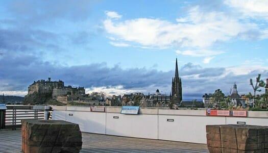 La terraza del Museo Nacional de Escocia, en Edimburgo