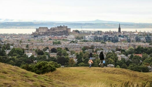 Blackford Hill, vistas panorámicas de Edimburgo