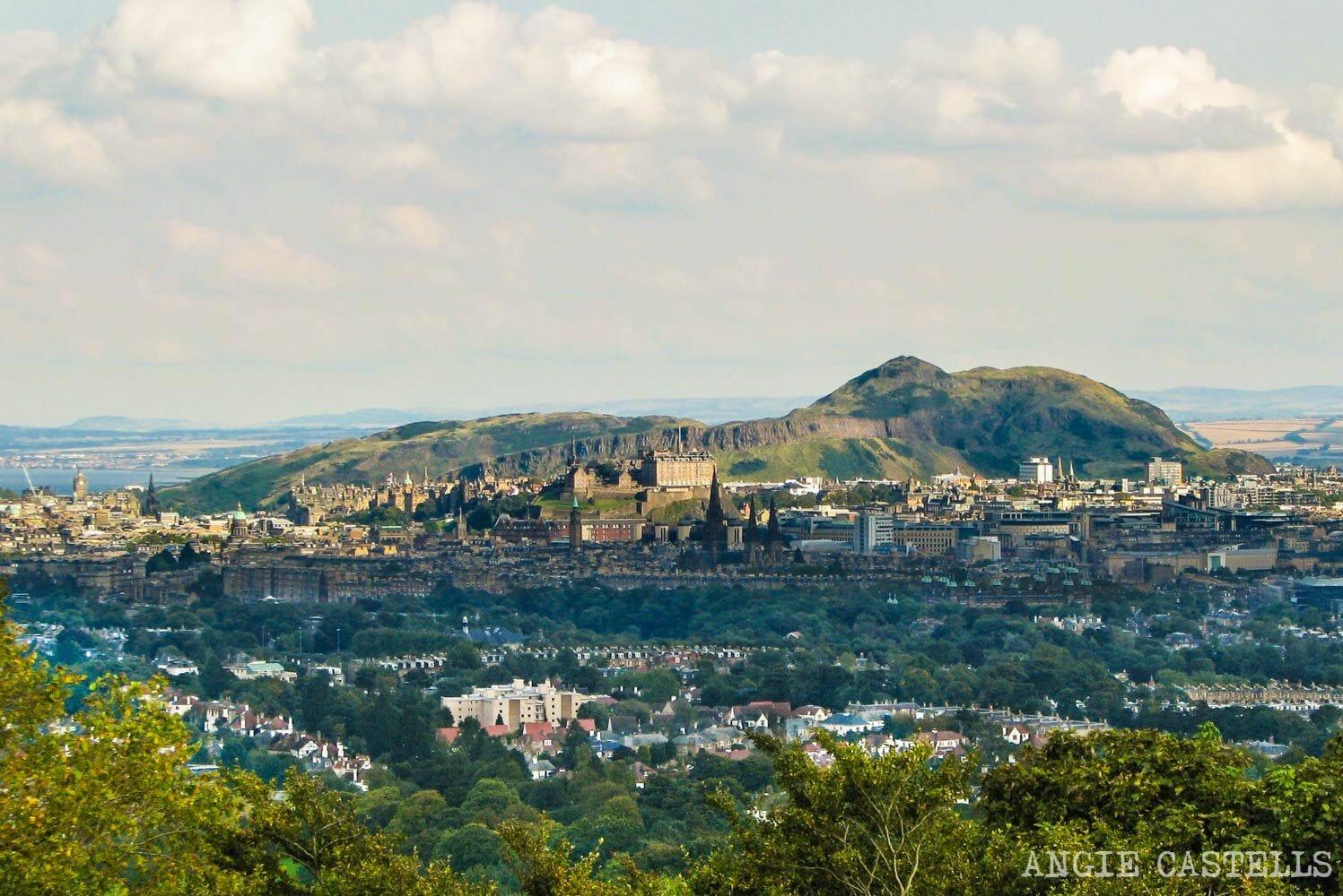 Vistas de Edimburgo desde Corstorphine HIll