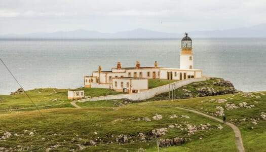 El faro de Neist Point, en la isla de Skye